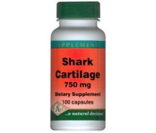 Pal Shark Cartilage 750 mg. 100 capsules.