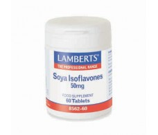 Lamberts Isoflavonas de soja 50mg (menopausia) 60 Tabletas.