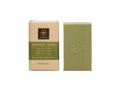 Apivita Natural Soap Olive Oil Geranium honey and 100 grams.