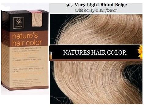 Apivita nature s hair color 9 7 rubio muy claro beige - Color beige claro ...