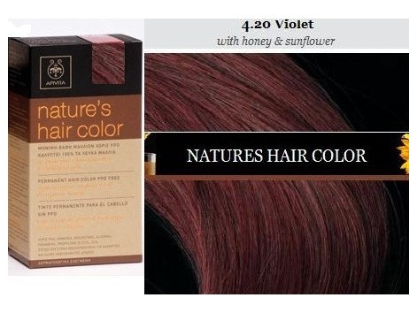 Apivita Nature´s Hair Color 4.20 Violet (with sunflower oil and ... 0f1305b089e