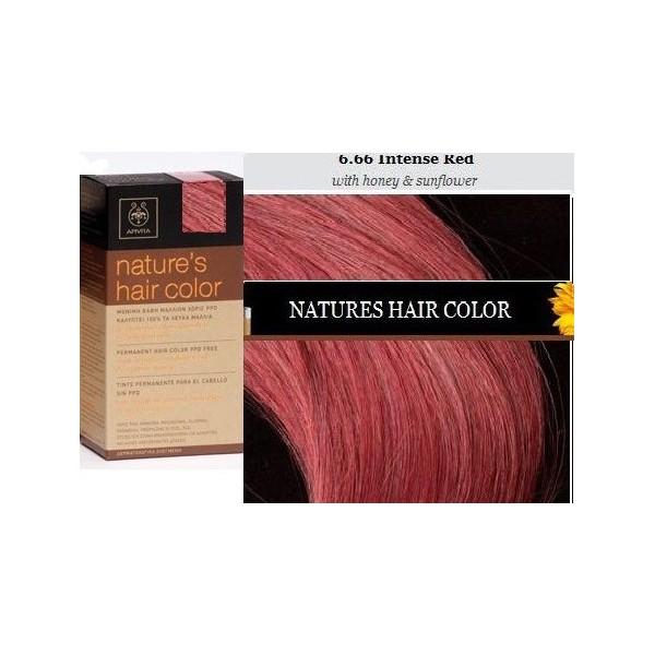 Apivita Natures Hair Color 666 Intense Red Farmacia Internacional