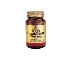 Solgar Maxi L-Carnitine 500 mg. 30 tablets
