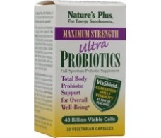 Natures Plus Ultra Probiotics probióticos 30 cápsulas vegetales.