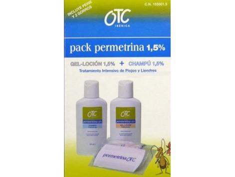 OTC PACK Permetrina 1,5% Antipiojos Locion + Champu.