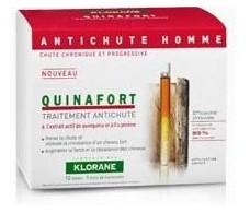 Klorane Quinafort anticaida hombre 12 dosis, 1 mes de tratamient