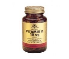 Solgar Vitamina D 400 UI (10mcg) 100 cápsulas