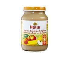 Holle potito de manzana, plátano y albaricoque 190g