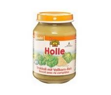 Holle potitos de brócoli con arroz integral 190g