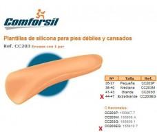Comforsil Silicone Plantillas para pies débiles y cansados 44-47