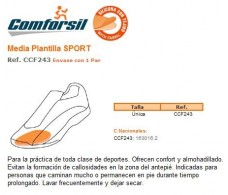 Comforsil Silicone Media Plantilla SPORT 1 par.