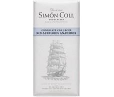 Simon Coll Chocolate con Leche sin azucar 85 gramos. Velero.