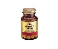 Solgar Vitamin K Natural 100mcg. 100 tablets