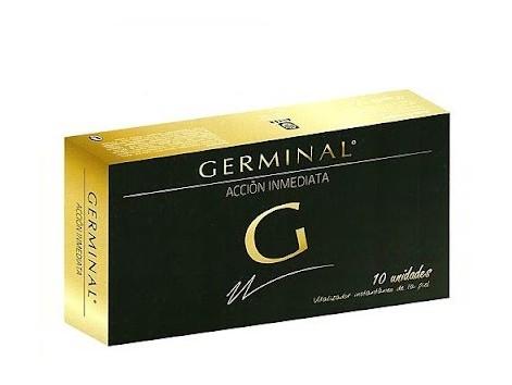 Germinal Accion Inmediata 10 ampollas. Vitalizador instantáneo.