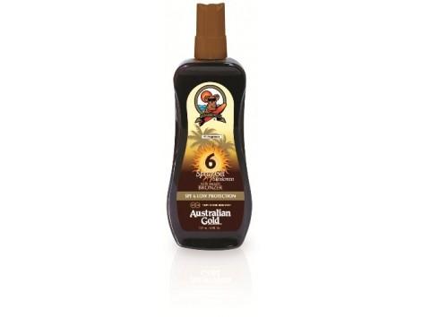 Australian Gold Bronzer Spray Gel 237ml SPF6. Low Protection.