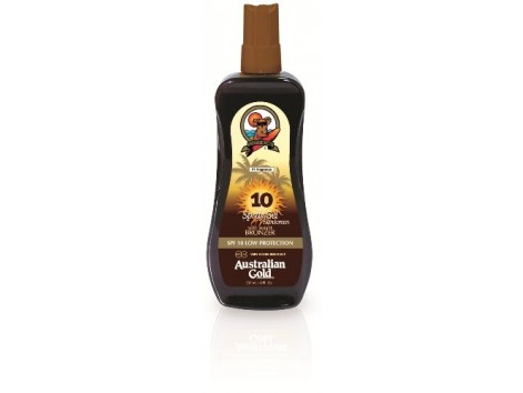 Australian Gold Bronzer Spray Gel 237ml SPF10. Low Protection.