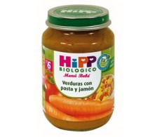 Hipp Menu Vegetables with pasta and ham 190gr