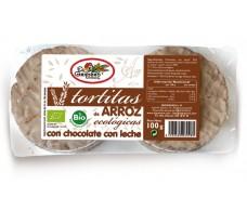 The Barn RICE CAKES WITH MILK CHOCOLATE BIO (6 UNITS), 100 g