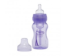 Dr Browns Wide Mouth Bottle 240 ml. Anti-Colic. Purple
