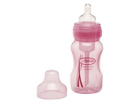 Dr Browns Wide Mouth Bottle 240 ml. Anti-Colic. Pink