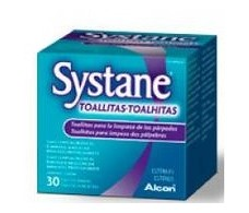 Systane 30 sanitary wipes eye area