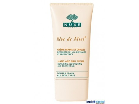 Nuxe Reve de Miel Hand Cream 75ml and nails.