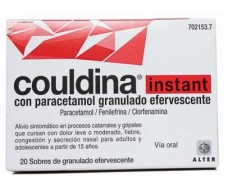 Instant Couldina with granulated effervescent sachets Paracetamol 20