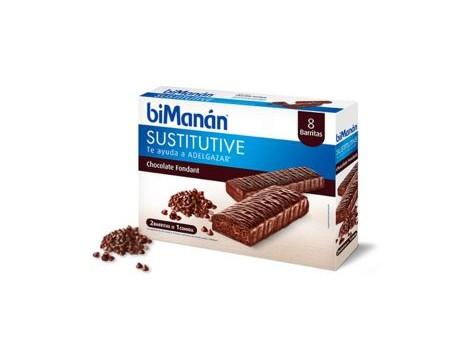 Bimanan Sustitutive Fondant chocolate bar 8 units