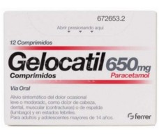 Gelocatil 650 mg 12 tablets