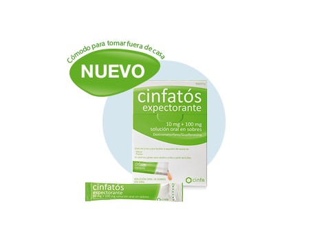 expectorant Cinfatós 10 mg + 100 mg oral solution 18 envelopes