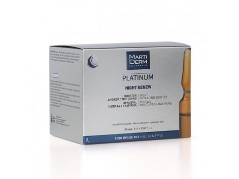 Martiderm Platinum NIGHT RENEW REPAIR 30 ampoules (Alfa Peeling)