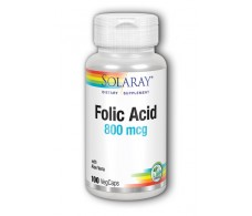 Folic Acid 800mg Solaray. - Folic Acid Solaray. 100 capsules