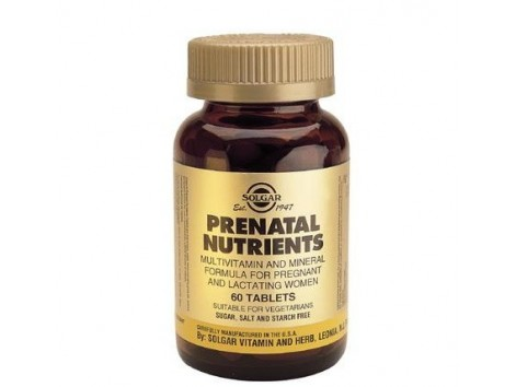 Solgar Prenatal Nutrients. 60 tablets