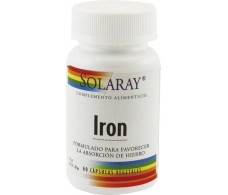 Asporotate Solaray Iron - Iron Chelate. 100 capsules. Solaray