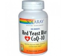 Solaray Levadura Roja de Arroz & CoQ10 60 cápsulas