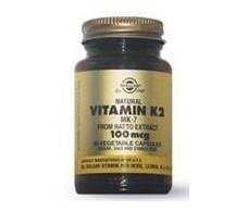 Solgar Vitamin K2 100mcg. (Menaquinona 7) 50 capsules