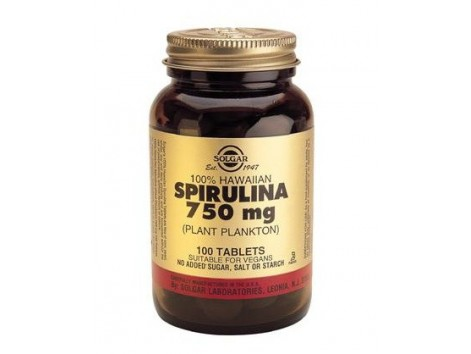 Solgar 100% Hawaiian Spirulina 750mg. (Plankton) 100 tablets