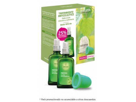WELEDA ANTI-CELLULITE TREATMENT BIRCH 2X100ml + GIFT CELLULICUP