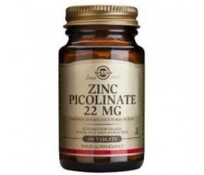 SOLGAR ZINC PICOLINATE 22mg. 100comp.