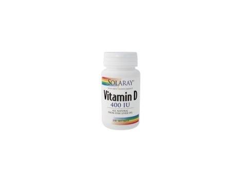 Solaray Dry Vitamin D3 400 IU 120 pearls. Solaray