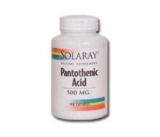 Pantotenic Acid Solaray - Pantothenic Acid 500mg. 100 capsules