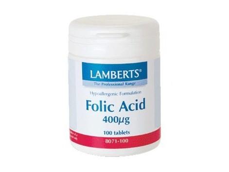 Lamberts Acid Folico 400mcg.  100 tablets.  Lamberts