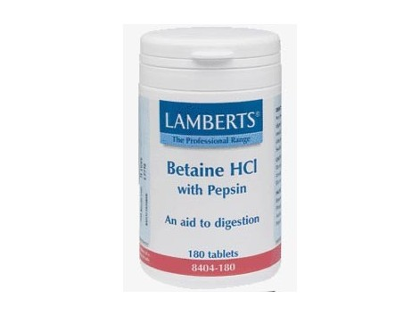 Lamberts Betaine HCI with Pepsin 180 tablets. Lamberts