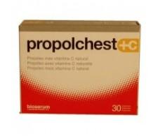Bioserum Propolchest + C  30 capsules. Bioserum