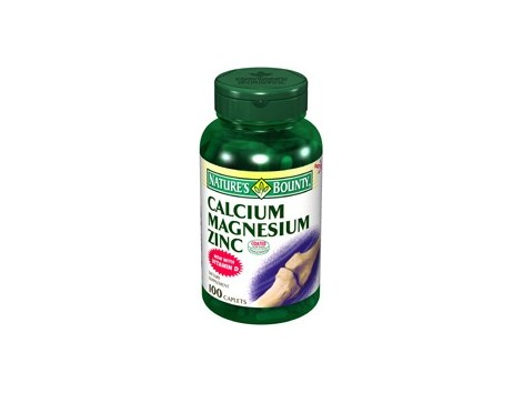 Nature's Bounty Calcium, Magnesium and Zinc 100 tablets