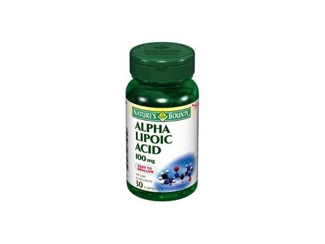 Nature's Bounty alpha lipoic acid 100mg. 30 capsules