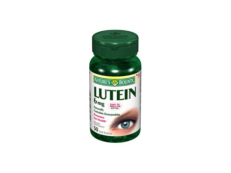 Nature´s Bounty Lutein 6mg. 50 pearls
