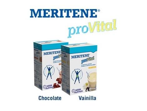MERITENE Provital chocolate. 7 envelopes