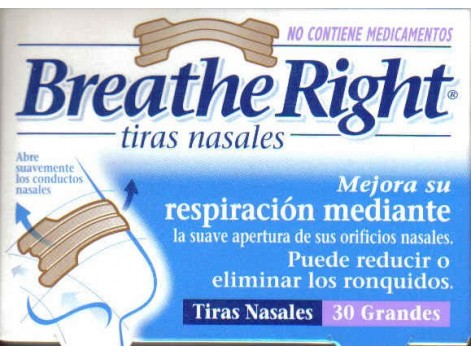 Breathe Right nasal strips classic size M medium. 30 units