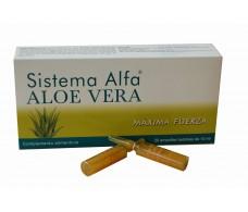 Alfa System Aloe Vera maximum strength. 20 ampoules